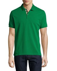 Burberry Short Sleeve Oxford Polo Shirt Green