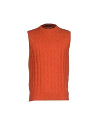 Barba Knitwear Jumpers Men Rust