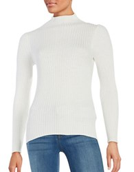 French Connection Bambino Rib Mockneck Sweater Winter White
