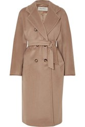 Max Mara 101801 Icon Double Breasted Wool And Cashmere Blend Coat Camel