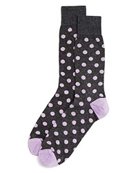 Bloomingdale's The Men's Store At Genova Dot Socks Black