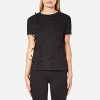 Sportmax Women's Eschilo Bow T Shirt Black