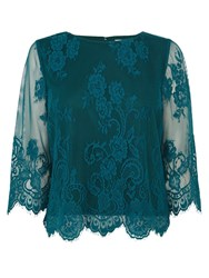 Coast Katia Lace Top Forest Green