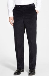 Men's Big And Tall Berle Flat Front Corduroy Trousers Navy