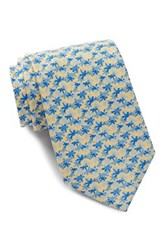 Tailorbyrd Dragonfly Silk Tie Yellow