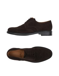 Angelo Nardelli Lace Up Shoes Dark Brown