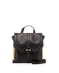 French Connection Finn Faux Leather Messenger Bag Black