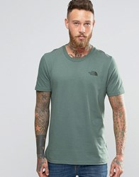 The North Face T Shirt With Chest Logo In Green Green