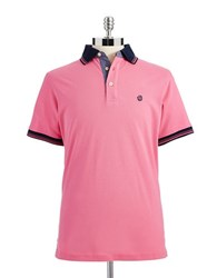 Bugatti Knit Polo Shirt Red