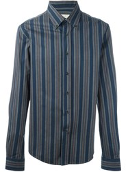 Romeo Gigli Vintage Striped Shirt Blue