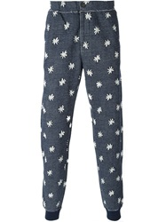Paul Smith Jeans Star Print Track Pants Blue