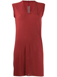 Rick Owens Long Line Tank Top Red