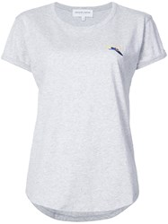 Maison Labiche Embroidered Detail T Shirt Grey