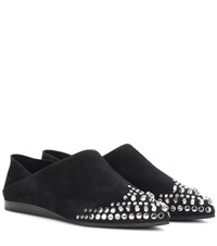 Mcq By Alexander Mcqueen Liberty Fold Embellished Suede Shoes Black