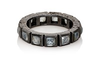 Nak Armstrong Women's Aquamarine And Sterling Silver Band No Color
