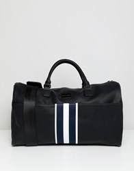 Peter Werth Stripe Webbing Holdall In Black