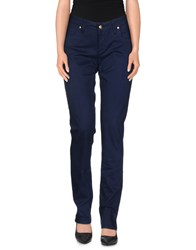 Shaft Trousers Casual Trousers Women Dark Blue
