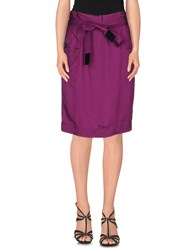 Burberry Brit Skirts Knee Length Skirts Women Purple