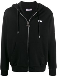 Gcds Logo Embroidered Hoodie Black