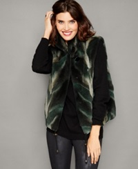 The Fur Vault Coyote Fur Vest Green