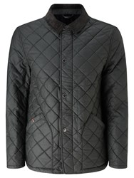 John Lewis And Co. Waxed Cotton Quilted Jacket Olive