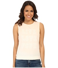 French Connection Live Love Tee 76Dbb Deco Blush Women's Sleeveless Pink