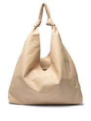 The Row Bindle Leather Tote Cream