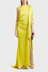 Ronald Van Der Kemp Bow Sleeve Gown Yellow
