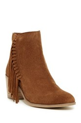 Kenneth Cole Reaction Rotini Fringe Ankle Boot Brown