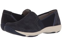 Dansko Halle Navy Suede Women's Slip On Shoes Blue