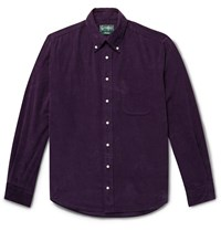 Gitman Brothers Vintage Button Down Collar Cotton Corduroy Shirt Purple