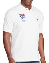 Polo Big And Tall Classic Fit Cotton Mesh White