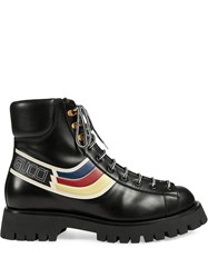 Gucci Graphic Print Lace Up Boots 60