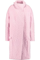 Just Cavalli Alpaca Blend Boucle Coat Pink