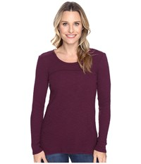 Mod O Doc Vintage Slub Thermal Back Vent Long Sleeve Tee Spiced Plum Women's T Shirt Purple