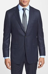 Men's Big And Tall Hickey Freeman 'Traveler' Classic Fit Check Wool Sport Coat
