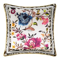 Roberto Cavalli Beethoven Silk Bed Cushion White 40X40cm