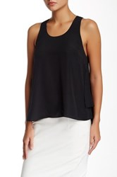 Madison Marcus Layered Back Hi Lo Tank Black