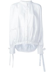 Antonio Berardi Band Collar Shirt White
