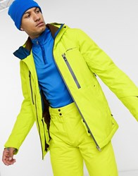 Protest Clavin Ski Jacket In Yellow