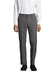 Saks Fifth Avenue Flat Front Slim Fit Pants Grey