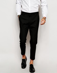 Asos Skinny Cropped Suit Trousers Black
