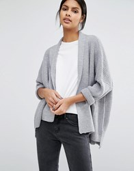 Warehouse Asymmetric Cardigan Grey