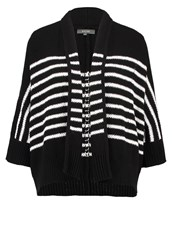 Kiomi Cardigan Black White