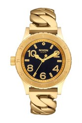 Nixon Women's 38 20 Rolo Chain Bracelet Watch Black