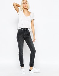 Weekday Thursday High Waist Skinny Jean Screenblack