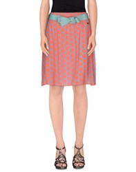 Massimo Rebecchi Skirts Knee Length Skirts Women Coral
