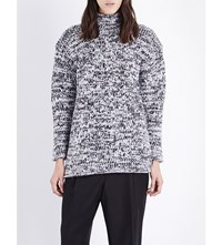 Pringle Of Scotland Waffle Knit Cashmere Jumper Charcoal Silver