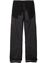 Ann Demeulemeester Blanche Wide Leg Tailored Trousers Black