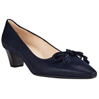 Peter Kaiser Stephanie Bow Block Heeled Court Shoes Navy